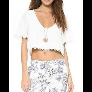 White for love and lemons crop top